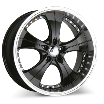 TREND C053 Black with Machined Lip wheels & rims