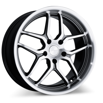 VERTEX D659 Gunmetal with Machined Face and Lip wheels & rims