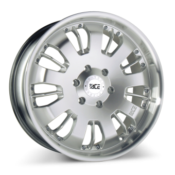 VOLT ( 1PC CAST) C811B Hypersilver with Machined Lip wheels & rims