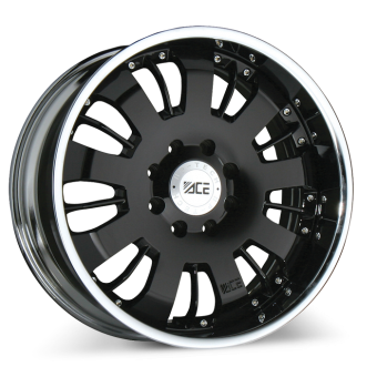 VOLT (2pcs) C811 Black with Chrome Lip wheels & rims