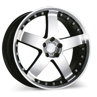 ZEUS C040 Gunmetal w/Machined Face wheels & rims