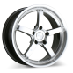 CONCEPT 5 D657 Silver with Machined Lip wheels & rims