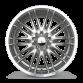 MATRIX D632 Hyperblack with Machined Lip wheels & rims