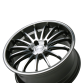PASSION D672 Gunmetal with Machined Face wheels & rims