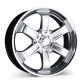 T-1R C001B Hypersilver with Machined Lip wheels & rims