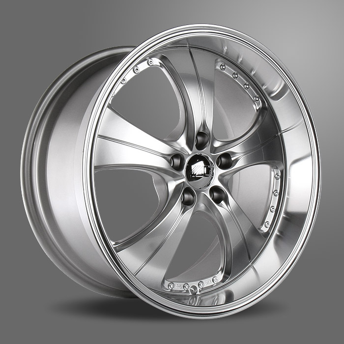 TREND C053 Hypersilver with Machined Lip wheels & rims
